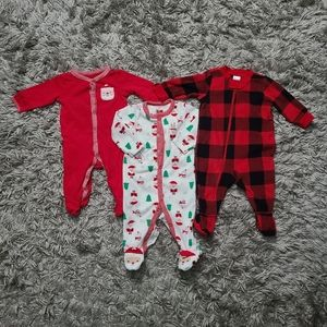 Baby Red Pajama Bundle in Different Brands 3-6M